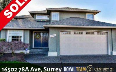 Sold – 16502 78A Avenue, Surrey